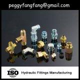 Guarnición de tubo instalación de tuberías hidráulica masculina de acero inoxidable del manguito de Jic de 45 piezas acodadas del grado (1J4)