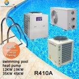 Toutes les conditions météorologiques 25~260mètre cube thermostat de la piscine 32deg. C 12kw/19LW/35kw/70KW du tube de titane Cop4.6 utilisé la piscine Vente de pompe à chaleur