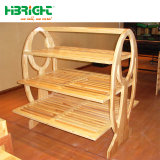 Three Shelves를 가진 빵 Shop Solid Wood Bakery Rack
