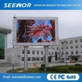 Tabellone per le affissioni esterno di P6 LED con l'angolo di visione largo