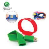Migliori braccialetti promozionali del USB del silicone del regalo con il marchio su ordinazione