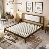 ホームのための現代木製の家具の寝室セットの固体木のベッド