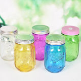 500ml bocal en verre de peinture de couleur