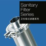 Les mesures sanitaires en acier inoxydable sac unique entrée supérieure du boîtier de filtre de la cartouche