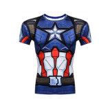 カスタマイズされたパターンが付いている男子体操のワイシャツ