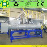 Fiocchi di riciclaggio di plastica dell'animale domestico della macchina della bottiglia dello scarto del materiale di riporto di plastica di plastica residuo del vaso che schiacciano riga