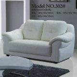 2018白いカラーオフィス用家具現代PUの革ソファー(302#)