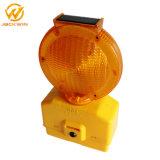 Будьте осторожны трафика солнечной энергии солнечного света мигает сигнальная лампа заграждение