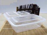 3 compartiments clair se biodégrader les emballages en plastique de la plaque du bac d'aliments Case
