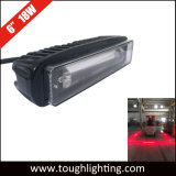 10-80V de 6 pulgadas de color rojo 18W LED luces de advertencia de la zona de peligro
