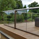 Bestes verkaufendes Aluminiumu-profilstäbeglasgeländer für Balkon-Entwurf