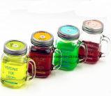 Mason Jar potável com tampa e palha
