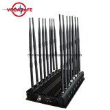 La antena de 16 coches de alta potencia de salida de Control Remoto Jammer, GPS, WiFi, Lojack, Walky-Talky Jammer, fija las bandas de 16 años de aislamiento de la señal de teléfono móvil