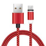Cavo di dati magnetico chiaro del cavo del USB del telefono mobile di C24 2.4A LED per Andorid