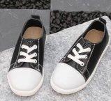 De vlakke Gevulcaniseerde Schoenen van het Comfort van de Hiel Canvas