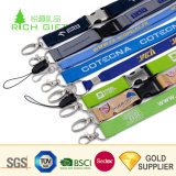 Keysのための高品質Fashion Design Custom Printed Polyester Bling Rhinestone Lanyard