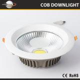 Fabricante de China el precio de 60 grados de ángulo de haz Dazzle libre 5W 7W 10W 15W 20W 30W Downlight LED COB para exposición de arte