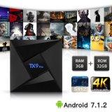 Androider intelligenter Prokasten Fernsehapparat-Tx9 mit Amlogic S912 3GB RAM/32GB ROM-gesetztem Spitzenkasten mit einprogrammiert Support 4K 1080P WiFi, BT Digital-Displa Kodi voll
