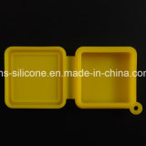 La FDA al por mayor de la fábrica de silicona irrompible 9ml Square Contenedor de almacenamiento de fumar