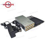 Actualizar la versión de Improvisación portátil con batería de 8000mA y 10 antenas bloqueadores de señal CDMA/GSM/3G/4glte celular/Wi-Fi /Bluetooth2.4G/5g +Lojack