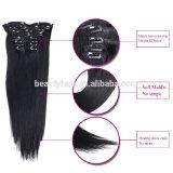 Qualitäts-Menschenhaar 100% Klipp in Hair Extensions für Afroamerikaner, Klipp Hair