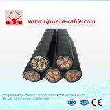 Силовой кабель цены XLPE изолированный PVC 11kv 33kv 240mm2