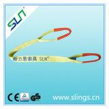 3t * 8m Polyester Double Eye Webbing Sling Facteur de sécurité 6: 1