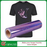 Película excelente por atacado de transferência do holograma do preço e da qualidade de Qingyi para o t-shirt