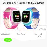 Kind-Handeinfluß-Screen-Armbanduhr GPS-Verfolger (D15)
