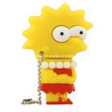 Simpson 가족 USB Pendrive 만화 PVC USB 섬광 드라이브