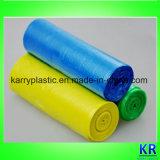Sacs à ordures colorés avec étiquette