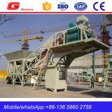 Centrale du malaxage 50m3/H concrète mobile populaire sans silo (YHZS50)