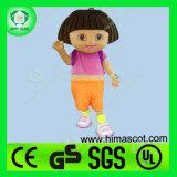 Hi fr71 heureux Dora the Explorer Mascot Costume pour adulte