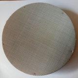 304, 304L, 316, disco do filtro do aço 316L inoxidável para a extrusora plástica