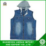 El algodón de los hombres Jeans el chaleco con capucha para invierno (1005)
