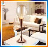 Lâmpada de mesa de decoração de vidro simples com design de gota de água de cristal
