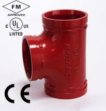 """FM/UL Approval Ductile Iron Grooved Tee 6 """" (168.3mm)"""