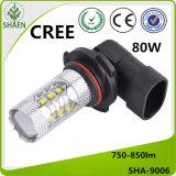 크리 사람 9006 LED 차 빛, 안개등 80W 백색 750-850lm 12-24V