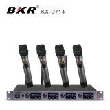 KxD714 4チャンネルのLavalierの無線マイクロフォンシステム