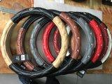 Автомобиль крышек рулевого колеса автомобиля PU и PVC украшает