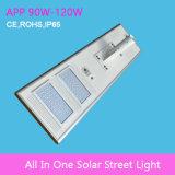 Iluminación al aire libre solar integrada de la luz de calle del LED