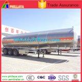 Del Tri-Árbol 50cbm Saso del combustible de la gasolina del petrolero acoplado de aluminio semi