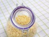 De grote Kruik van de Opslag van het Voedsel van de bochtig-Hals met het Luchtdichte Deksel van het Glas