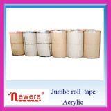 BOPP gran rollo de cinta adhesiva de embalaje para el uso de la Corte