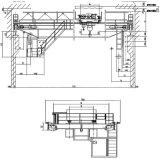 전기 철사 밧줄 윈치 두 배 대들보 천장 기중기