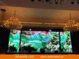 Reshine P3.91 실내 임대료 LED 의 단계 LED 스크린