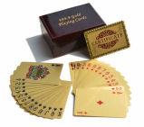 Gouden Speelkaarten met het Houten Vakje van de Gift