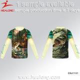 Healong modificó las camisas de los jerseys para requisitos particulares de la pesca del desgaste del club de la pesca