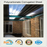 De polycarbonate coloré feuille de carton ondulé, de toiture en plastique ondulé en polycarbonate