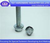 Haute qualité DIN6921 le boulon à embase en zinc plaqué